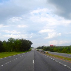 The Road Ahead. Day 97. Government Blvd in Mobile, AL. Cloudy and oddly cool, I'll take it. #TheWorldWalk #travel #wwtheroadahead
