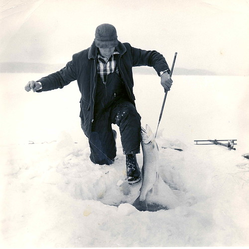 Old Crystal Lake Trout Ice Angler