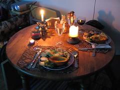 dana does lovely dinner.JPG