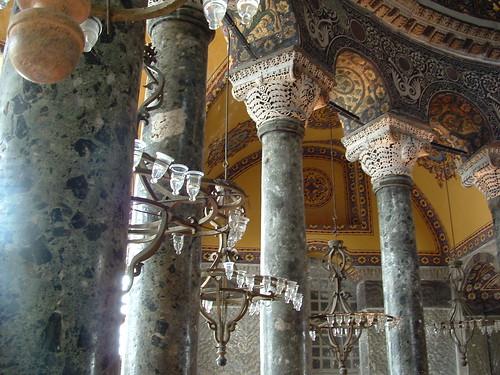 Interior of the Hagia Sophia ~ Architecture Photos ...   Hagia Sophia Interior Columns