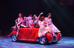 The cast in the Music Circus production of Grease June 26 through July 1, 2012. Photo by Charr Crail.