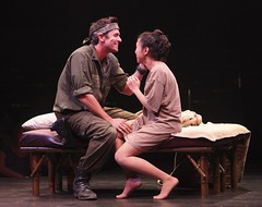 Eric Kunze as Chris and Ma-Anne Dionisio as Kim in Miss Saigon at Music Circus August 23-28. Photo by Charr Crail