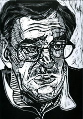 Papà, linoleumgrafia, 2016