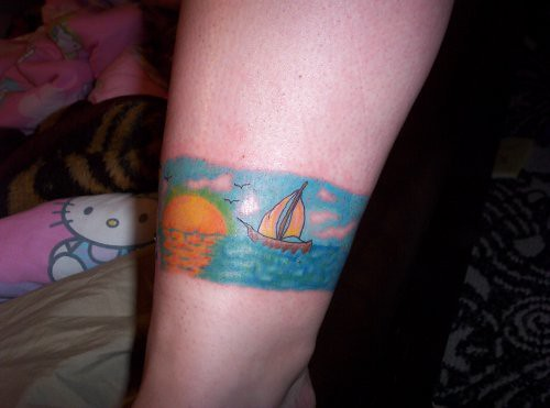 Ocean Band Tattoo. I truly despise this tattoo. I hate the way the edges are