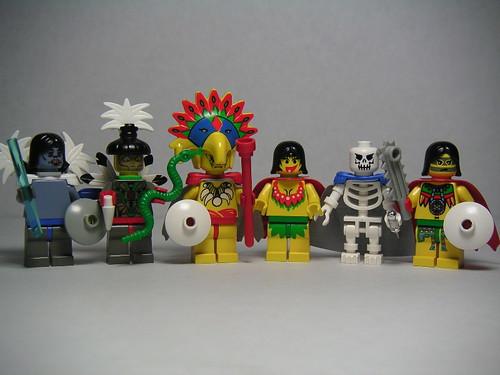 LEGO Aztec god minifigs
