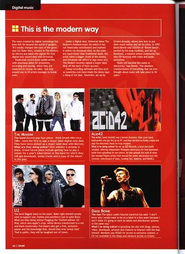 Acid42 in Stuff Magazine Philippines, August 2005