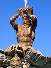 Three views of the Triton Fountain