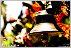 Mighty Bell at entrance of temple