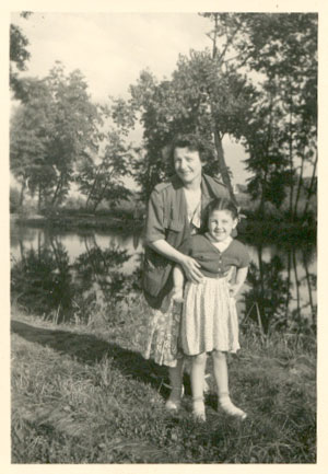 With my mother in 1950