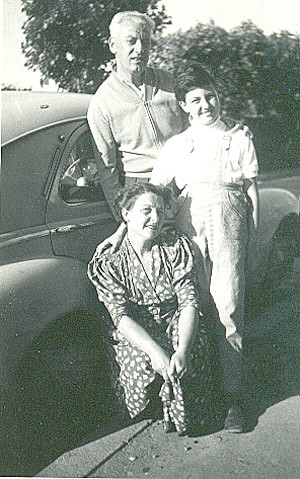 With my parents in 1954