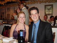 at his sister's wedding