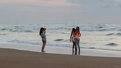 Coucher de soleil sur la plage de Coxyde