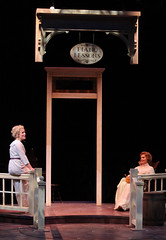 """Shirley Jones and Brandi Burkhardt as Marian and Mrs. Paroo in the Music Circus production of """"The Music Man"""" at the Wells Fargo Pavilion July 31 - Aug 5. Photo by Charr Crail."""