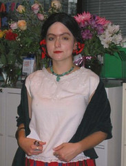 me dressed as frida kahlo at work