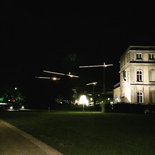 Kräne in der #Nacht @ #0711 #Stuttgart