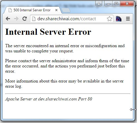500 Internal Server Error - due to wrong URL Rewrite rules on .htaccess