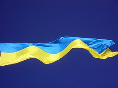Ukraine Flag in L'viv