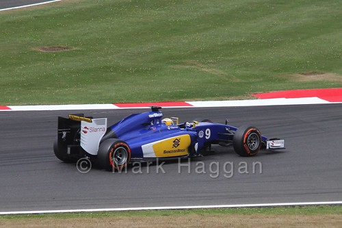 Marcus Ericsson in Free Practice 3 for the 2015 British Grand Prix at Silverstone