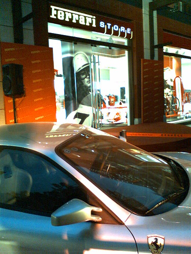 Ferrari Store at Xintiandi, near the historical site of the first reunion of the Communist Party