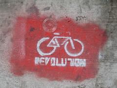 Revolution Bike Stencil Graffiti