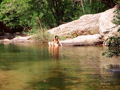 Ikaria 016 (isl_gr (away on an odyssey)) Tags: hiking beautyconcealed ikaria icaria replacement canyon greece hiker z watersnake   hikingikaria  waterdreams chalares  natrixnatirx