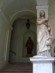 statues on a staircase, palazzo braschi