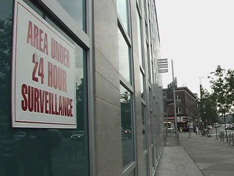 Surveillance camera area in Toronto, Canada
