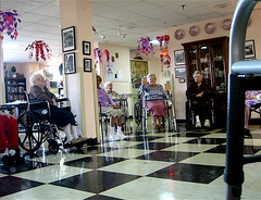 yoga time at the nursing home