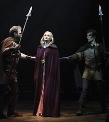 From left: Michael Thatcher, Lisa O'Hare and J.D. Daw in Camelot at Music Circus August 2-7. Photo by Charr Crail.