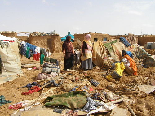 Floods in Sahrawi refugee camps in southwest Algeria