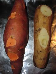 Yam vs. sweet potato