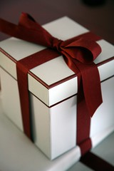 A wrapped gift