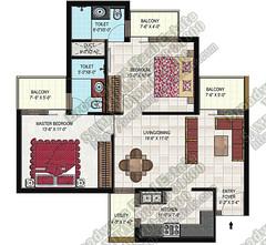gillco-park-hills-mohali-2bhk-floor-plan
