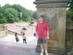 Sam at Bethesda Fountain in NYC Central Park Copyright 2004 JDK Communications of New England.