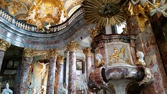 Fantastically Baroque - the chapel has curved walls in a square building