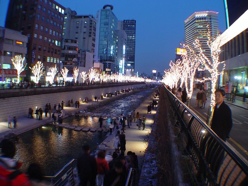 Christmas on Cheonggyecheon Stream by Peter Garnhum, on Flickr