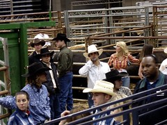 Scoping out cowboys after the show