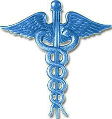 Caduceus Symbol - Medical Symbol MD