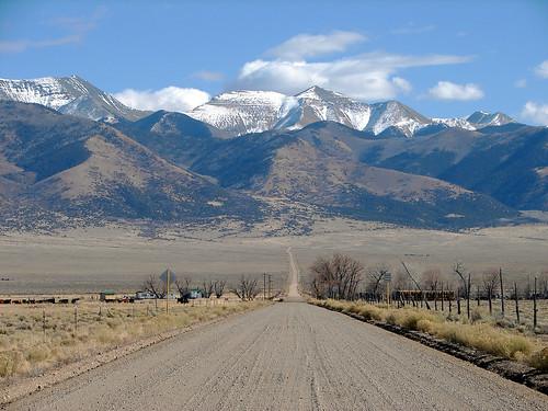 Road in the San Luis Valley, Southern Colorado