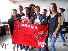 Kids Presenting Peace Poster