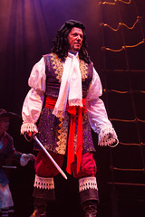 Paul Schoeffler as Captain Hook in Peter Pan, produced by Music Circus at the Wells Fargo Pavilion July 21-26, 2015. Photo by Kevin Graft.