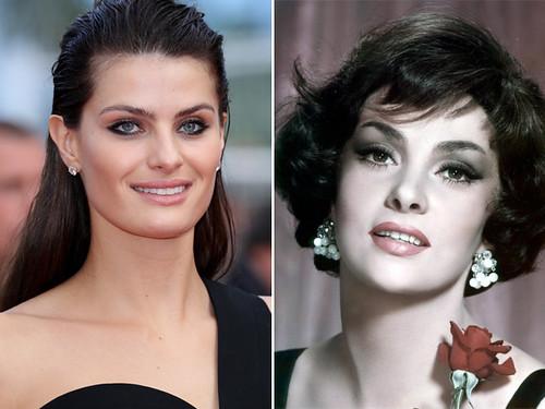 Isabeli Fontana, com seu nariz mais natural, e o arrebitado da italiana Gina Lollobrigida, que não é mais o desejado
