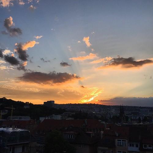 Über den Dächern III  #Sonnenuntergang #sunset @ #Heusteigviertel #Fest #0711 #Stuttgart