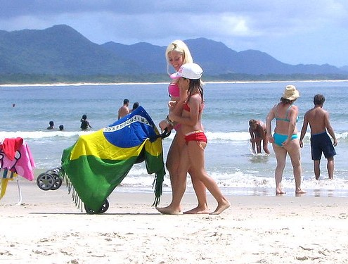 Con Brasil en la playa - With Brazil at the beach