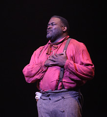 Phillip Boykin as Jim in Big River, produced by Music Circus at the Wells Fargo Pavilion June 23-28, 2015. Photos by Charr Crail.