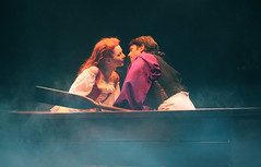 "Jessica Grové and Eric Kunze as Ariel and Prince Eric in the Music Circus production of ""The Little Mermaid"" at the Wells Fargo Pavilion July 10-22. Photo by Charr Crail."
