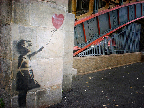 valentine's day heart banksy