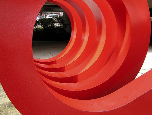 A red spiral - how perfect for me.