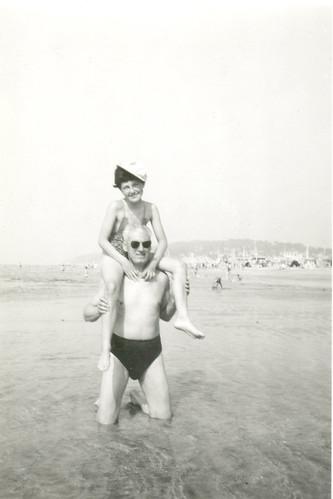 1954 on my dad's shoulders