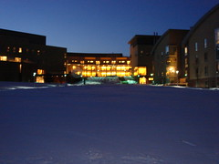 Olin College - Snow & Sunset
